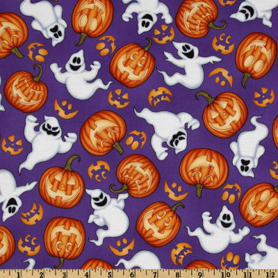 Boo Crew Ghosts & Pumpkins Purple