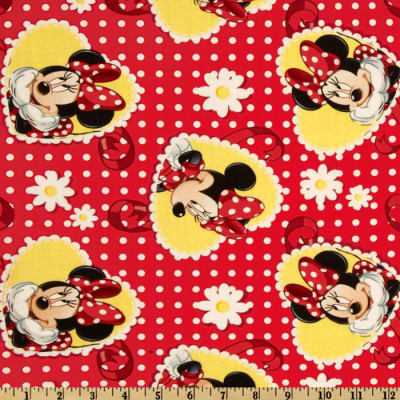 Minnie Polka Dots and Daisies Red