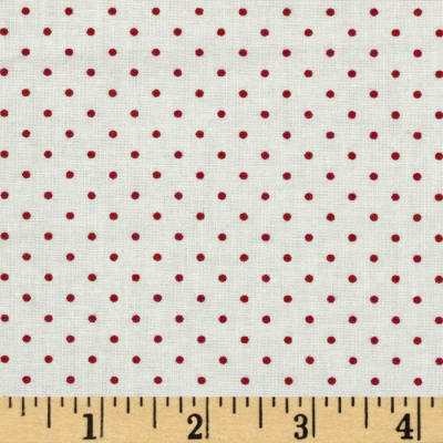 Moda Essential Dots (#8654-51) White/Red