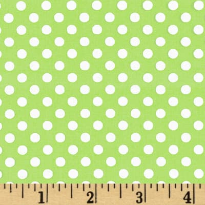 Spot On Mini Dots Lime Green