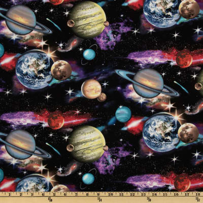 In Space Planets Black