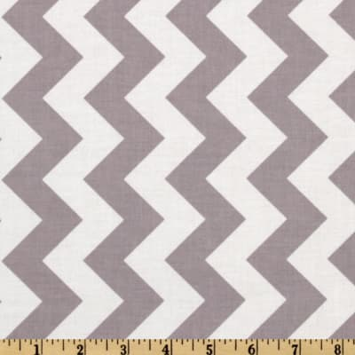 Riley Blake Chevron Medium Gray