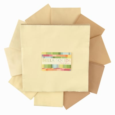 Moda Bella Solids 10'' Layer Cake Neutrals