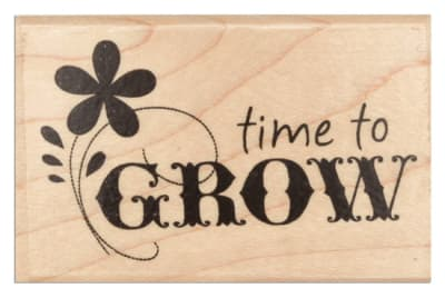 Hampton Art  Wood-Mounted Rubber StampTime To Grow