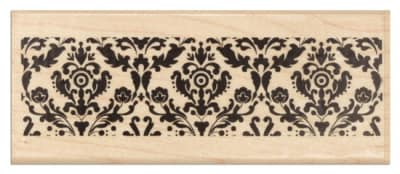 Hampton Art Wood-Mounted Rubber Stamp Flourish Border