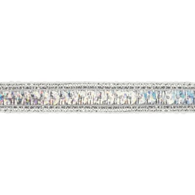 1/2'' Hologram Sparkle Sequin Trim Silver
