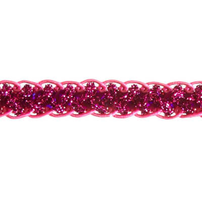 "1/2"" Sequin Braid Cord Trim Fuchsia"