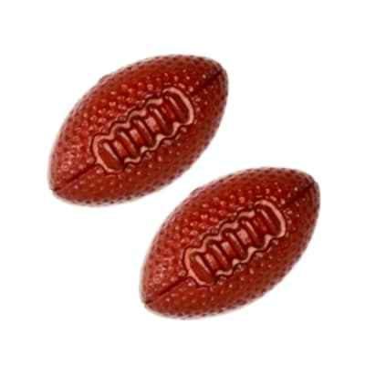 Novelty Button 3/4'' Football Brown