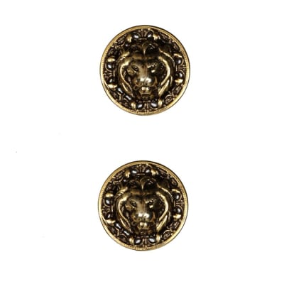 Metal Button 3/4'' Leo Antique Gold