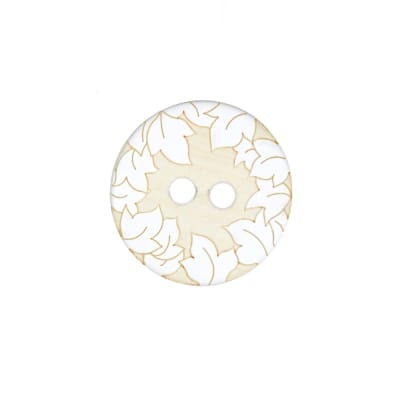 Fashion Button 1 1/4'' Anthea White/Cream