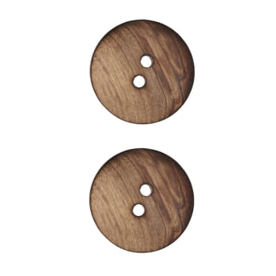 "Wood Button 1"" Natural"
