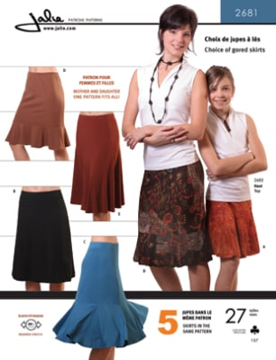 Jalie Pull-On Knit Gored Skirts Pattern