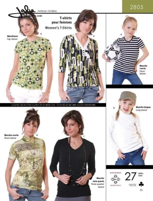 Jalie Great T Shirts Sewing Pattern