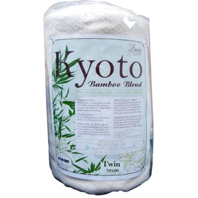 Kyoto Bamboo Rayon Blend Batting (72'' x 90'') Twin