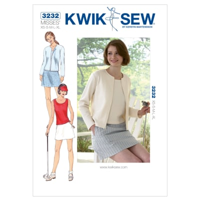 Kwik Sew Skort Top Cardigan Pattern Discount Designer Fabric