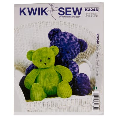 Kwik Sew K3246 Teddy Bears Pattern OSZ (One Size)