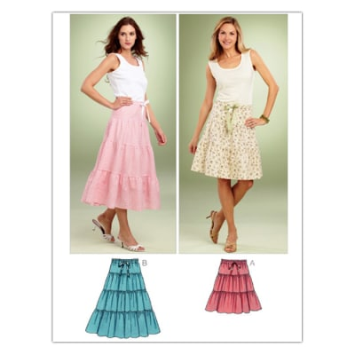 Kwik Sew Misses Tiered Skirts (3851) Pattern