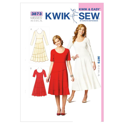 Kwik Sew Misses Tiered Dresses 3873 Pattern Discount
