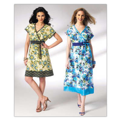 Kwik Sew Misses Faux Wrap Dress Pattern