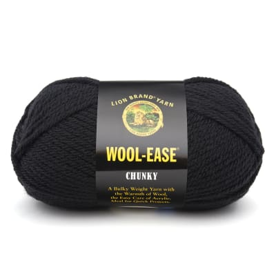 Lion Brand Wool-Ease Chunky Yarn (153) Black