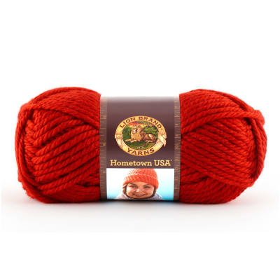 Lion Brand Hometown USA Yarn (113) Cincinnati Red