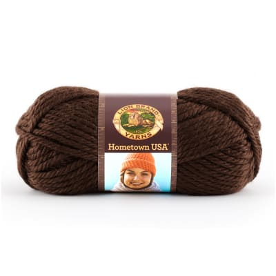Lion Brand Hometown USA Yarn (125) Billings Chocolate