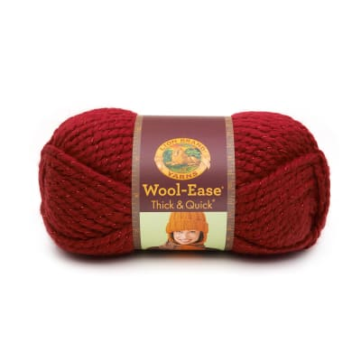 Lion Brand Wool-Ease Thick & Quick Yarn (306) Poinsettia