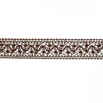 "1 1/2"" Crochet Trim Brown"
