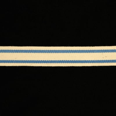 "5/8"" Woven Ribbon Stripes Periwinkle"