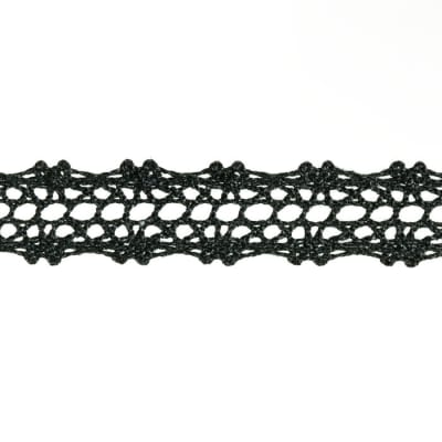 "5/8"" Crochet Lace Trim Black"