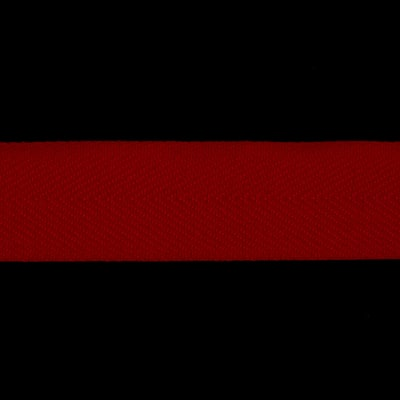 1 1/2'' Poly Twill Tape Ribbon Red