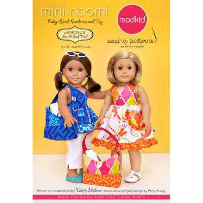 Modkid Mini Naomi Doll Sundress & Top Pattern