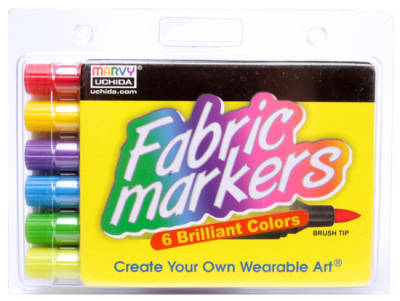 Marvy Uchida Fabric Marker Brush Tip Set Brilliant