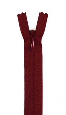 """20/22"""" Poly Invisible Zipper Barberry Red"""