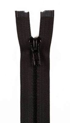 "Sport Separating Zipper 18"" Black"