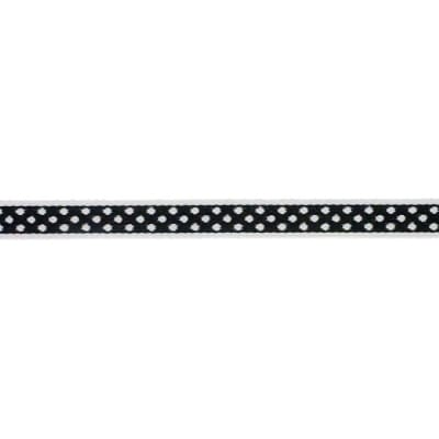 7/16'' Ribbon Polka Dot Black/White