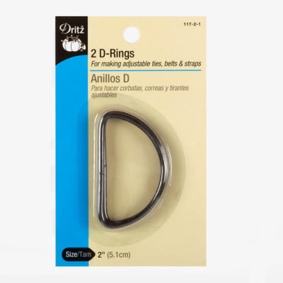 D-Rings Charcoal 2''