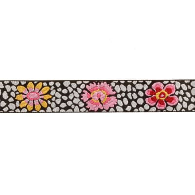 Kaffe Fassett 7/8'' Ribbon Guinea Flower Black/White