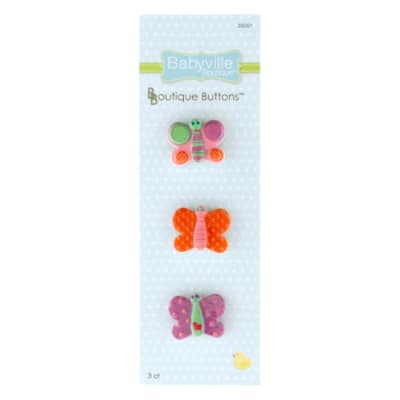 Babyville Boutique Buttons Butterfly