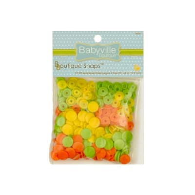 Babyville Boutique Snaps Green/Yellow/Orange