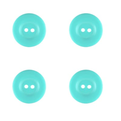 "Riley Blake Sew Together 1"" Matte Round Button Aqua"