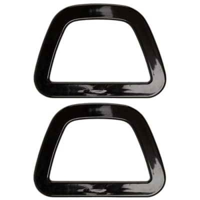 D-Shaped Plastic Purse Handle Black