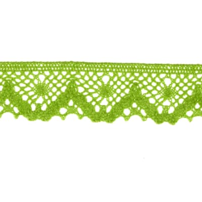 "Riley Blake Sew Together 1 1/4"" Crocheted Lace Trim Lime"