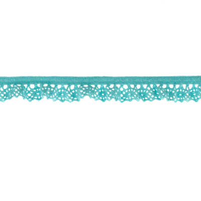 "Riley Blake Sew Together 1/2"" Elastic Crocheted Lace Aqua"