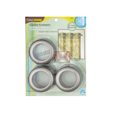 Curtain Grommets 8 Pack Pewter 1 - 9/16''