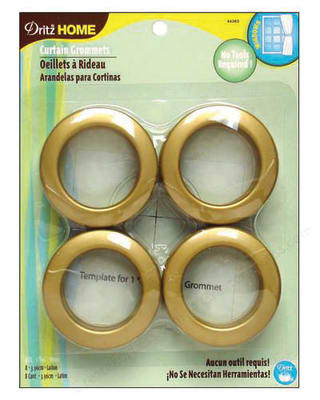 Curtain Grommets 8 Pack Brass 1 - 9/16''
