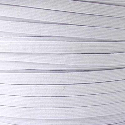 1/4'' Braided Elastic  White