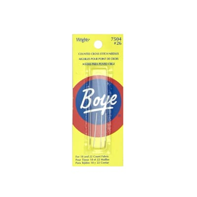 Boye Cross Stitch Needle Size 26 - 4 pieces