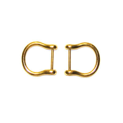 Gold Flair Purse Handle Hooks 3/4