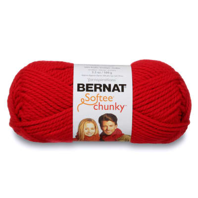 Bernat Softee Chunky Yarn (28705) Berry Red